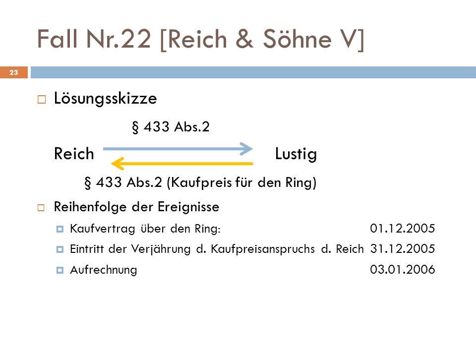 Fall Nr.22 [Reich & Söhne V]